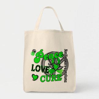 Peace Love Cure 2 Non-Hodgkin's Lymphoma Tote Bag
