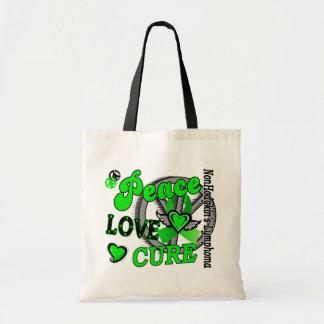 Peace Love Cure 2 Non-Hodgkin's Lymphoma Tote Bags