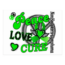 Peace Love Cure 2 Non-Hodgkin's Lymphoma Postcard