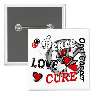Peace Love Cure 2 Oral Cancer Pin