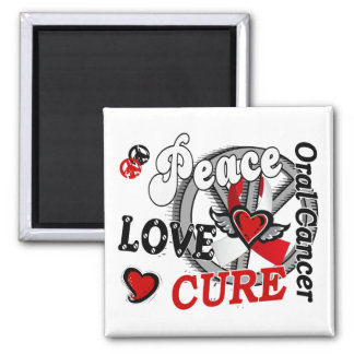 Peace Love Cure 2 Oral Cancer Refrigerator Magnet