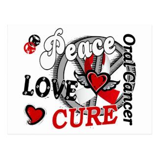 Peace Love Cure 2 Oral Cancer Postcard