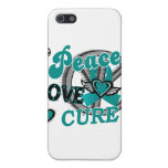 Peace Love Cure 2 Ovarian Cancer iPhone 5 Covers
