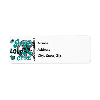 Peace Love Cure 2 Ovarian Cancer Label