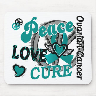 Peace Love Cure 2 Ovarian Cancer Mouse Pad