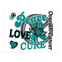 Peace Love Cure 2 Ovarian Cancer Postcard