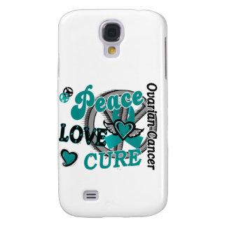 Peace Love Cure 2 Ovarian Cancer Samsung Galaxy S4 Cover