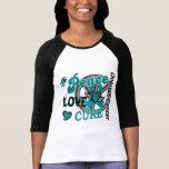 Peace Love Cure 2 Ovarian Cancer Shirt