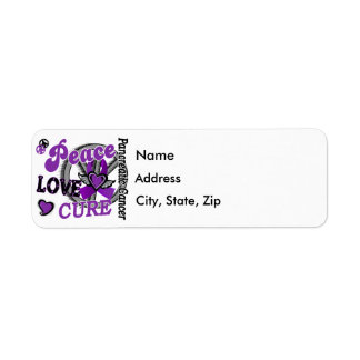 Peace Love Cure 2 Pancreatic Cancer Label