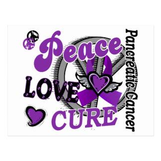 Peace Love Cure 2 Pancreatic Cancer Postcard