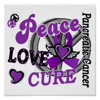 Peace Love Cure 2 Pancreatic Cancer Posters