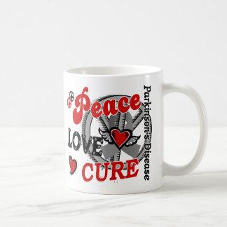 Peace Love Cure 2 Parkinson's Disease Classic White Coffee Mug
