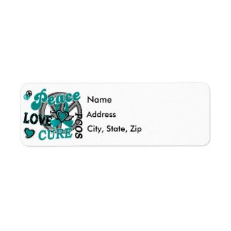 Peace Love Cure 2 PCOS Polycystic Ovarian Syndrome Label