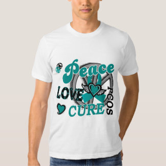 Peace Love Cure 2 PCOS Polycystic Ovarian Syndrome T-shirts