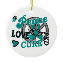 Peace Love Cure 2 PKD Polycystic Kidney Disease Ceramic Ornament