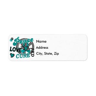 Peace Love Cure 2 PKD Polycystic Kidney Disease Label