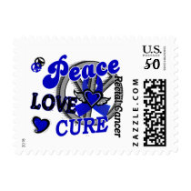 Peace Love Cure 2 Rectal Cancer / Anal Cancer Postage