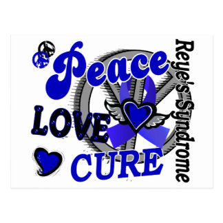 Peace Love Cure 2 Reye's Syndrome Postcard