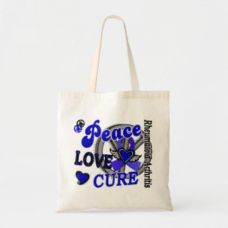 Peace Love Cure 2 Rheumatoid Arthritis Tote Bags