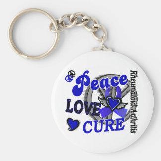 Peace Love Cure 2 Rheumatoid Arthritis Basic Round Button Keychain