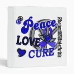 Peace Love Cure 2 Rheumatoid Arthritis Vinyl Binder