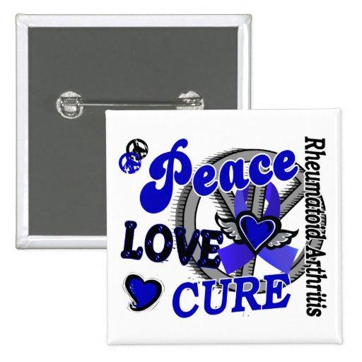 Peace Love Cure 2 Rheumatoid Arthritis Button