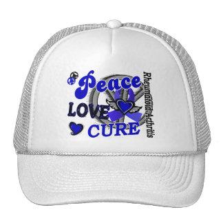 Peace Love Cure 2 Rheumatoid Arthritis Mesh Hat