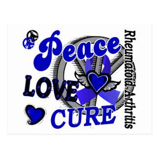 Peace Love Cure 2 Rheumatoid Arthritis Postcard