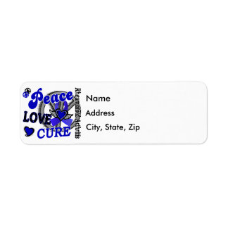 Peace Love Cure 2 Rheumatoid Arthritis Return Address Label