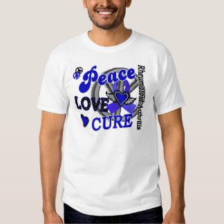 Peace Love Cure 2 Rheumatoid Arthritis T Shirt