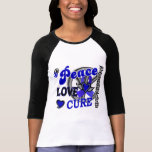 Peace Love Cure 2 Rheumatoid Arthritis T Shirts
