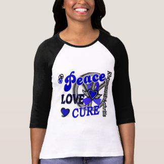 Peace Love Cure 2 Rheumatoid Arthritis Tee Shirts