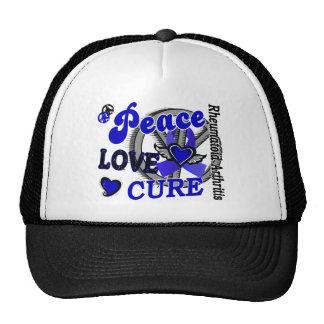 Peace Love Cure 2 Rheumatoid Arthritis Trucker Hat