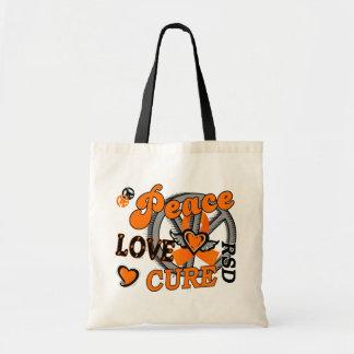Peace Love Cure 2 RSD Reflex Sympathetic Dystrophy Budget Tote Bag