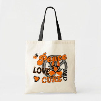 Peace Love Cure 2 RSD Reflex Sympathetic Dystrophy Tote Bag