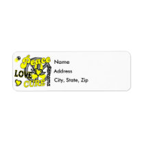 Peace Love Cure 2 Sarcoma Label