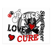Peace Love Cure 2 Skin Cancer Postcard