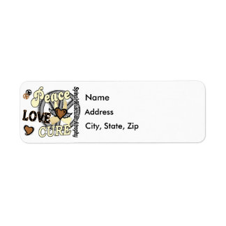 Peace Love Cure 2 SMA Spinal Muscular Atrophy Label