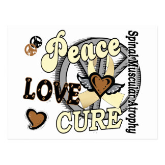 Peace Love Cure 2 SMA Spinal Muscular Atrophy Postcard