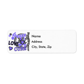 Peace Love Cure 2 Stomach Cancer Label