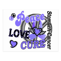 Peace Love Cure 2 Stomach Cancer Postcard