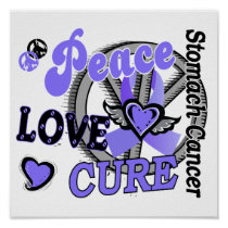 Peace Love Cure 2 Stomach Cancer Poster