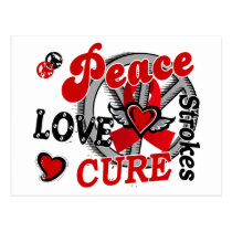Peace Love Cure 2 Strokes Postcard