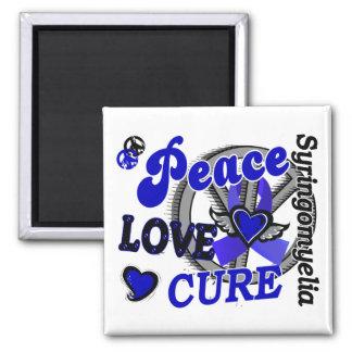 Peace Love Cure 2 Syringomyelia 2 Inch Square Magnet