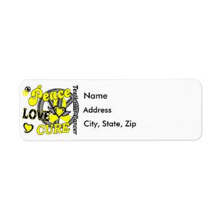Peace Love Cure 2 Testicular Cancer Label