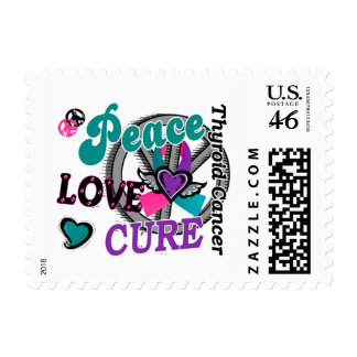 Peace Love Cure 2 Thyroid Cancer Stamp
