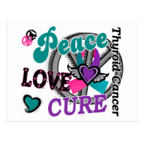 Peace Love Cure 2 Thyroid Cancer Postcard