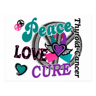 Peace Love Cure 2 Thyroid Cancer Post Cards
