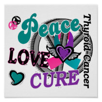 Peace Love Cure 2 Thyroid Cancer Poster