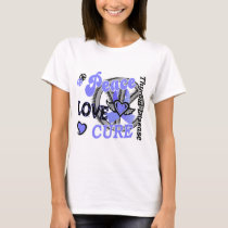 Peace Love Cure 2 Thyroid Disease T-Shirt